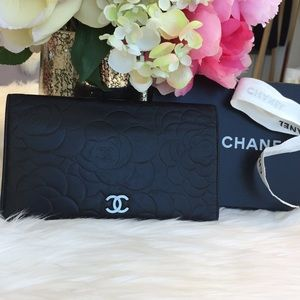 Chanel CC Camelia Embossed Wallet